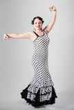Female spanish flamenco dancer Royalty Free Stock Image