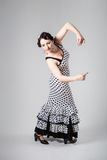 Female spanish flamenco dancer Royalty Free Stock Images