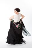 Female spanish flamenco dancer Stock Photos
