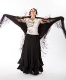 Female, spanish flamenco dancer Royalty Free Stock Images