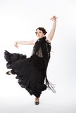 Female spanish flamenco dancer Royalty Free Stock Images