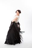 Female spanish flamenco dancer Stock Photography