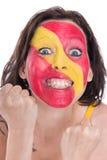 Female spanish soccer fan Stock Images