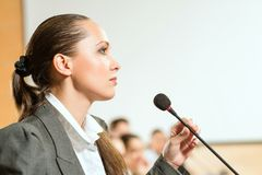 Female speaker Stock Photography