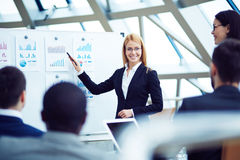 Female speaker Stock Photo