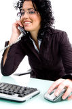 Female speaking on the phone Stock Photography