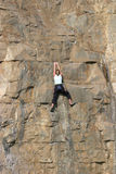Female Sport Rock Climber royalty free stock images