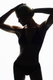 Female sports body silhouette Royalty Free Stock Image