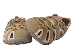 Female sports sandals. On a white background Stock Photos