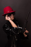 Female spy in latex Royalty Free Stock Photos