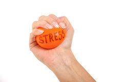 Female squeezing a stress ball Stock Photos
