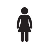 Female standing person adult pictogram Royalty Free Stock Image