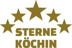 Female star chef gourmet german Stock Image