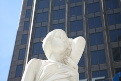 Female Statue Bust in Dallas, TX Royalty Free Stock Photography