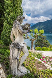 Female Statue. In the Garden of Villa Balbianello, Lake Como, Italy stock photos
