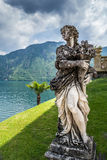 Female Statue. In the Garden of Villa Balbianello, Lake Como, Italy royalty free stock photography