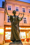 Female statue with harp in Baden bei Wien Royalty Free Stock Images