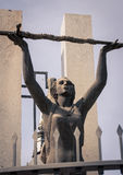 Female statue holding a sword Stock Image