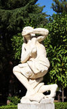 Female statue representing the fear Royalty Free Stock Images