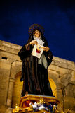 Female statue to celebrate the festival of Jesus of the Sacred H Stock Photography