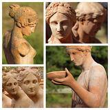 Female statues Stock Photography