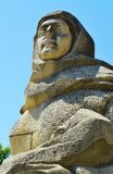 Female stone bust, Baia Mare Stock Photography