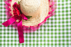Female Straw Hat on the table (Festa Junina Theme) Stock Photography