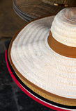 Female straw hats Stock Photography