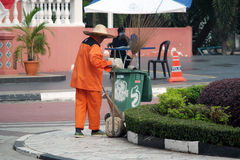 Female Street cleaner Stock Photography
