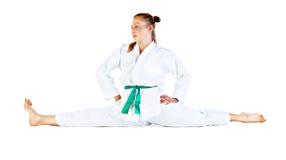 Female stretching Stock Photo