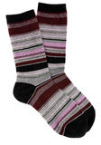 Female striped socks Royalty Free Stock Photography