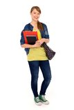 Female student. Young female student holding books Stock Image
