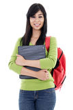Female student. Stock image of female student isolated on white background Stock Photography