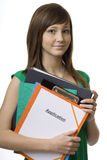 Female student with application Royalty Free Stock Photo