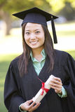 Female Student Attending Graduation Ceremony Royalty Free Stock Photo