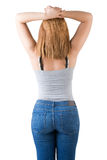 Female Student From The Back Royalty Free Stock Photo