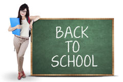 Female student back to school Royalty Free Stock Images