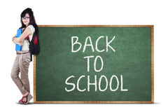 Female student back to school 1 Stock Photography