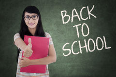 Female student back to school Stock Photo