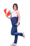 Female student  with bag Royalty Free Stock Photo