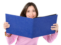 Female student with a book Royalty Free Stock Images