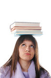 Female student with books Royalty Free Stock Photography