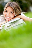 Female student with books Stock Photo
