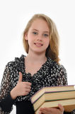 Female student with books Royalty Free Stock Photo