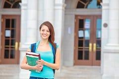 Female student on campus Stock Photos
