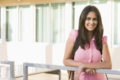 Female student on campus Stock Photos