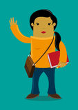 Female student cartoon  Stock Images