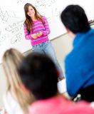 Female student in class Royalty Free Stock Photos