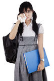 Female student is crying Royalty Free Stock Photos