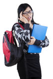Female student feel dizzy Stock Image
